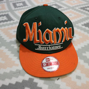 VTG New Era MIAMI HURRICANES Snapback Hat